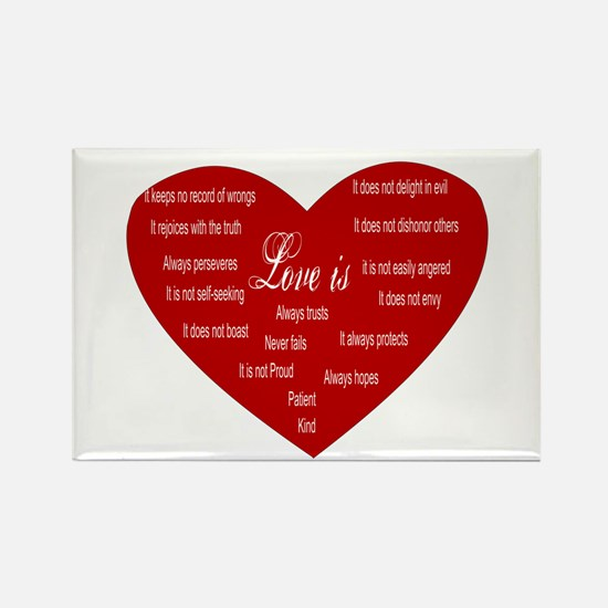 Love Is Heart Magnets