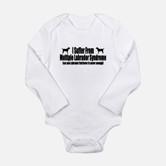 Labrador Retriever Long Sleeve Infant Bodysuit