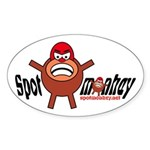 Spotmonkey.Net Oval Sticker