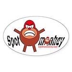 Spotmonkey.Net Oval Sticker