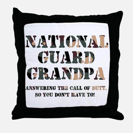 NG Grandpa Answering the Call Throw Pillow