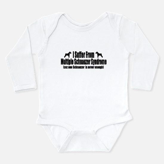 Schnauzer Long Sleeve Infant Bodysuit