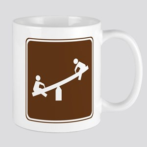 Playground Area Sign Mug