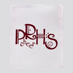 PRHS cheer (4) Throw Blanket