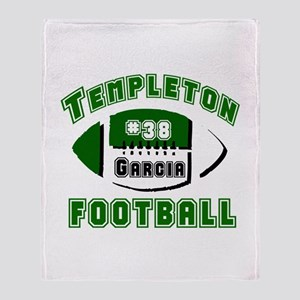TEMPLETON FOOTBALL (5 custom) Throw Blanket