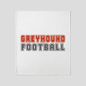 GREYHOUND FOOTBALL (3) Throw Blanket