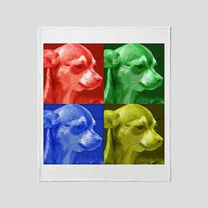 Chihuahua Pop Art Throw Blanket