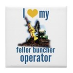 Love my feller operator Tile Coaster
