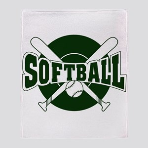 SOFTBALL *1* {green} Throw Blanket