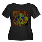 Magical Dragonfly Design Plus Size T-Shirt