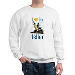 I Love My Feller Sweatshirt