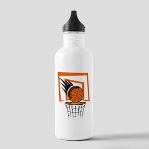 BASKETBALL *51* {orange} Stainless Water Bottle 1.