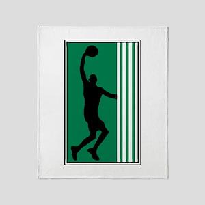 BASKETBALL *47* {green} Throw Blanket