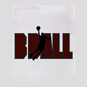 BBALL *1* {crimson} Throw Blanket