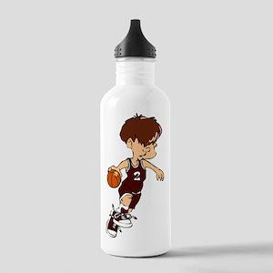 BASKETBALL *40* {crimson} Stainless Water Bottle 1