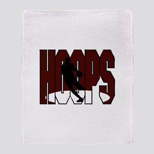 HOOPS *1* {crimson} Throw Blanket