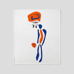 BASKETBALL *38* {orange/blue} Throw Blanket