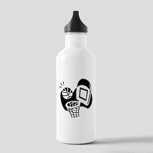 BASKETBALL *20* {black} Stainless Water Bottle 1.0