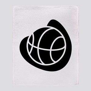 BASKETBALL *20* {black} Throw Blanket