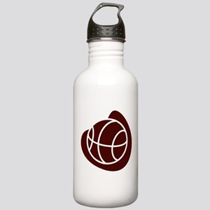 BASKETBALL *20* {crimson} Stainless Water Bottle 1