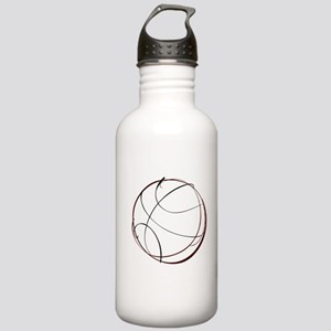 BASKETBALL *9* {crimson} Stainless Water Bottle 1.