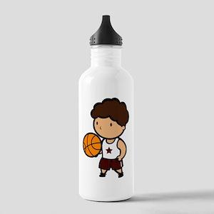 BASKETBALL *8* {crimson} Stainless Water Bottle 1.