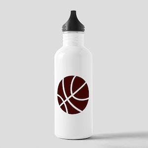 BASKETBALL *2* {crimson} Stainless Water Bottle 1.