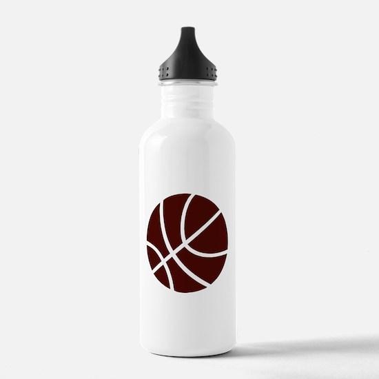 BASKETBALL *2* {crimson} Water Bottle