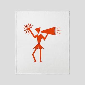 CHEER *30* {orange} Throw Blanket