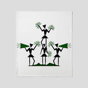 CHEER *29* {green} Throw Blanket