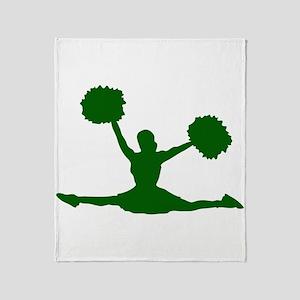 CHEER *17* {green} Throw Blanket