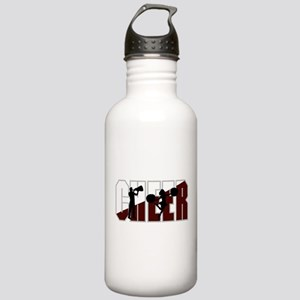 CHEER *16* {crimson/white} Stainless Water Bottle