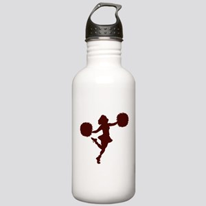 CHEER *14* {maroon} Stainless Water Bottle 1.0L