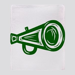MEGAPHONE *4* {green/white} Throw Blanket