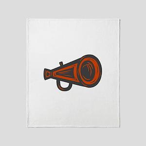 MEGAPHONE *4* {orange/gray} Throw Blanket