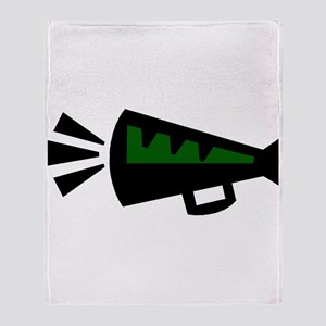 MEGAPHONE *3* {green} Throw Blanket