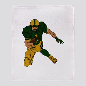 FOOTBALL *29* {green/gold} Throw Blanket