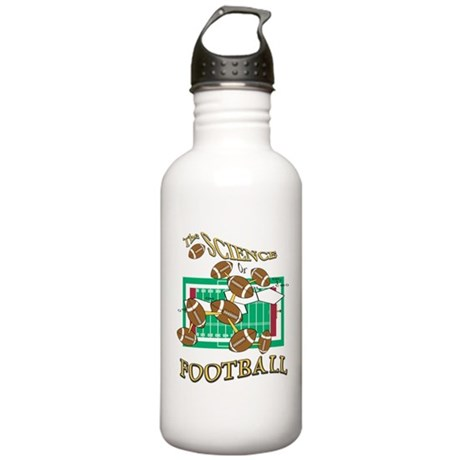 FOOTBALL *28* {yellow/red} Stainless Water Bottle