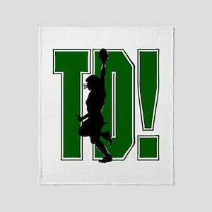 FOOTBALL *21* {green} Throw Blanket