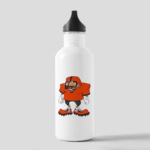 FOOOTBALL *20* {orange/gray} Stainless Water Bottl