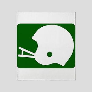 FOOTBALL *8* {green} Throw Blanket