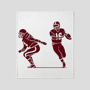 FOOTBALL *7* {crimson} Throw Blanket