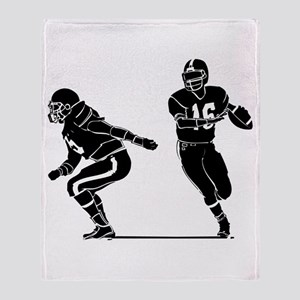 FOOTBALL *7* {b/w} Throw Blanket
