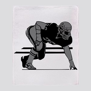 FOOTBALL *6* {gray} Throw Blanket