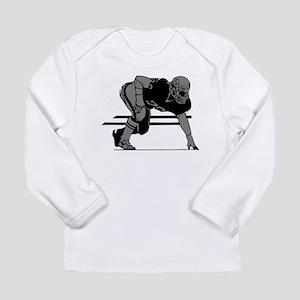 FOOTBALL *6* {gray} Long Sleeve Infant T-Shirt