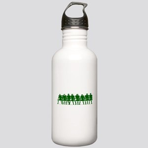 FOOTBALL *4* {green} Stainless Water Bottle 1.0L