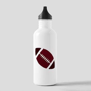 FOOTBALL *1* {crimson 2} Stainless Water Bottle 1.