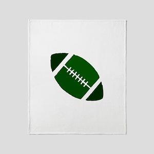 FOOTBALL *1* {green} Throw Blanket