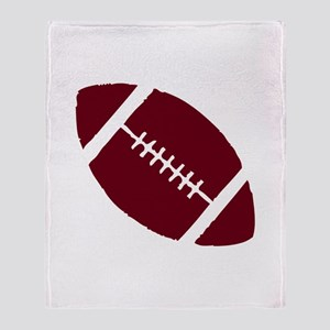 FOOTBALL *1* {crimson} Throw Blanket