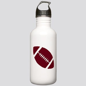 FOOTBALL *1* {crimson} Stainless Water Bottle 1.0L